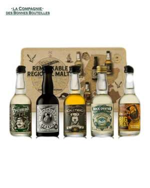coffret whiskies remarkable regional malts 5 x 5 cl