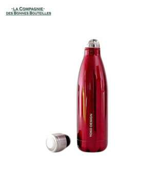 yoko design Bouteilles isotherme rouge brillant 500 ml